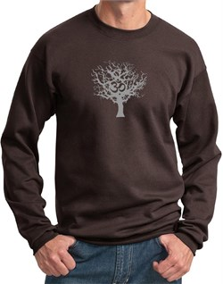 Mens Yoga Sweatshirt Grey Tree of Life Sweat Shirt