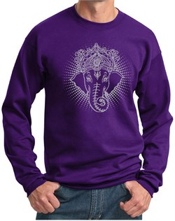 Image of Mens Yoga Sweatshirt Iconic Ganesha Sweat Shirt