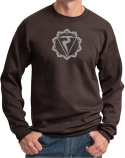 Image of Mens Yoga Sweatshirt Manipura Chakra Meditation Sweatshirt
