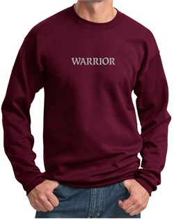 Image of Mens Yoga Sweatshirt Warrior Text Sweat Shirt