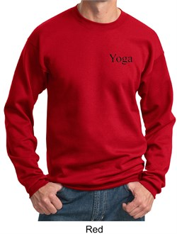 Mens Yoga Sweatshirt Yoga Logo Pocket Print Adult Sweat Shirt