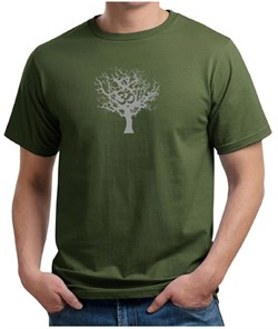 Mens Yoga T-shirt Grey Tree of Life Organic Tee