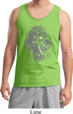 Image of Mens Yoga Tanktop 3D Ganesha Lights Tank Top