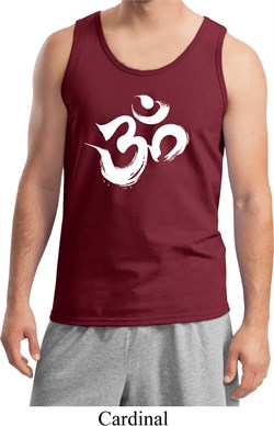 Image of Mens Yoga Tanktop Brushstroke Aum Tank Top