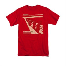 Image of Miles Davis Shirt Davis And Horns Red T-Shirt