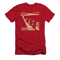 Image of Miles Davis Shirt Slim Fit Davis And Horns Red T-Shirt