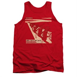Image of Miles Davis Shirt Tank Top Davis And Horns Red Tanktop