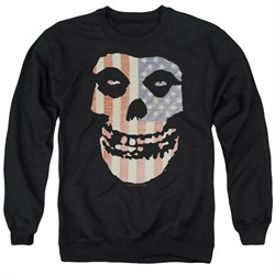 Image of Misfits Sweatshirt Fiend Flag 2 Adult Black Sweat Shirt
