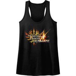 Image of Monster Hunter 4 Juniors Tank Top Ultimate Logo Black Racerback