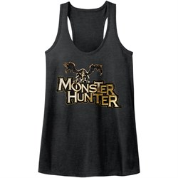 Image of Monster Hunter Juniors Tank Top Logo Black Racerback
