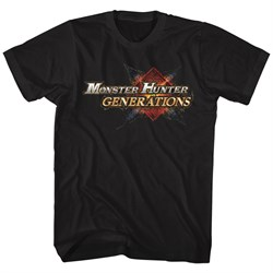 Image of Monster Hunter Shirt Generations Logo Black T-Shirt