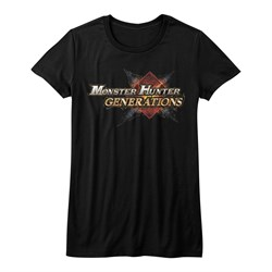 Image of Monster Hunter Shirt Juniors Generations Logo Black T-Shirt