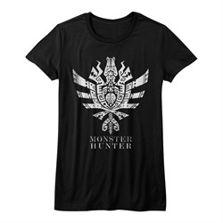 Image of Monster Hunter Shirt Juniors Ultimate Logo Symbol Black T-Shirt