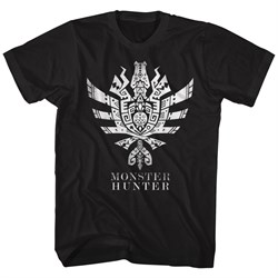 Image of Monster Hunter Shirt Ultimate Logo Symbol Black T-Shirt