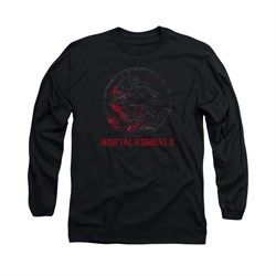 Mortal Kombat Shirt Bloody Logo Long Sleeve Black Tee T-Shirt