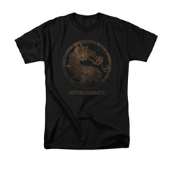 Mortal Kombat Shirt Metal Logo Black T-Shirt