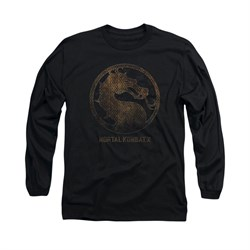 Mortal Kombat Shirt Metal Logo Long Sleeve Black Tee T-Shirt