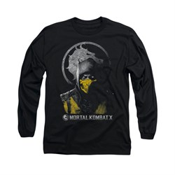Mortal Kombat Shirt Scorpion Long Sleeve Black Tee T-Shirt