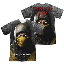 Mortal Kombat Shirt Scorpion Sublimation Shirt Front/Back Print