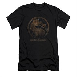 Mortal Kombat Shirt Slim Fit Metal Logo Black T-Shirt