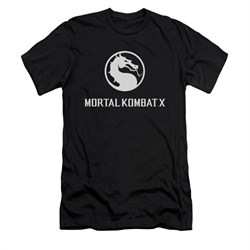 Mortal Kombat Shirt Slim Fit White Dragon Logo Black T-Shirt
