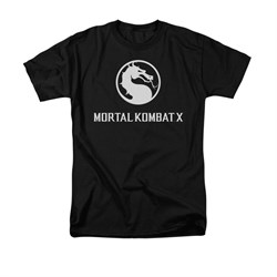 Mortal Kombat Shirt White Dragon Logo Black T-Shirt