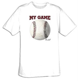 MY GAME - BASEBALL Sport T-shirt Tee Shirt