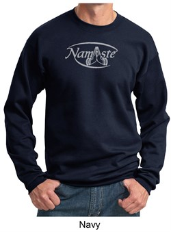 Image of Mens Yoga Sweatshirt ? Namaste Meditation Adult Sweat Shirt