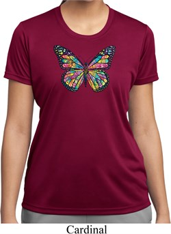 Image of Neon Butterfly Ladies Moisture Wicking Shirt