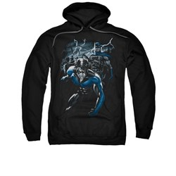Nightwing DC Comics Hoodie Sweatshirt Dynamic Duo Black Adult Hoody Sweat Shirt