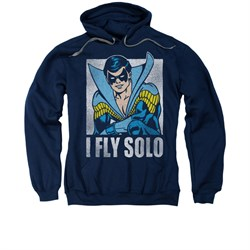 Nightwing DC Comics Hoodie Sweatshirt Fly Solo Navy Blue Adult Hoody Sweat Shirt