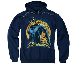 Nightwing DC Comics Hoodie Sweatshirt Moon Navy Blue Adult Hoody Sweat Shirt