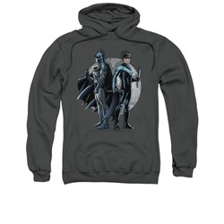 Nightwing DC Comics Hoodie Sweatshirt Spotlight Charcoal Adult Hoody Sweat Shirt