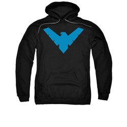Nightwing DC Comics Hoodie Sweatshirt Symbol Black Adult Hoody Sweat Shirt