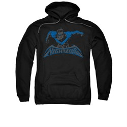 Nightwing DC Comics Hoodie Sweatshirt Wing Of The Night Black Adult Hoody Sweat Shirt
