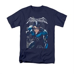 Nightwing DC Comics Shirt A Legacy Adult Navy Blue Tee T-Shirt