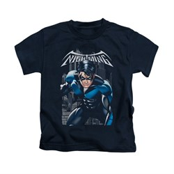 Nightwing DC Comics Shirt A Legacy Kids Navy Blue Youth Tee T-Shirt