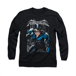 Nightwing DC Comics Shirt A Legacy Long Sleeve Black Tee T-Shirt