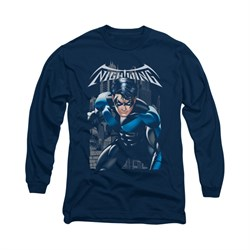 Nightwing DC Comics Shirt A Legacy Long Sleeve Navy Blue Tee T-Shirt