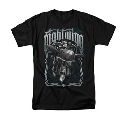 Nightwing DC Comics Shirt Biker Adult Black Tee T-Shirt
