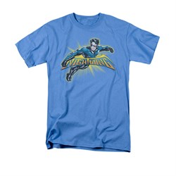 Nightwing DC Comics Shirt Burst Adult Carolina Blue Tee T-Shirt
