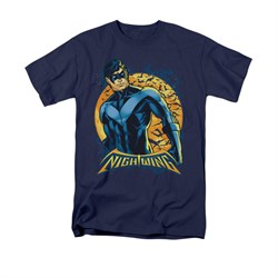 Nightwing DC Comics Shirt Moon Adult Navy Blue Tee T-Shirt