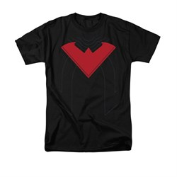 Nightwing DC Comics Shirt Nightwing 52 Costume Adult Black Tee T-Shirt
