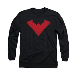 Nightwing DC Comics Shirt Nightwing 52 Costume Long Sleeve Black Tee T-Shirt