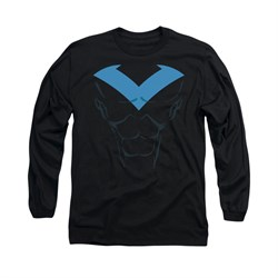 Nightwing DC Comics Shirt Nightwing Costume Long Sleeve Black Tee T-Shirt