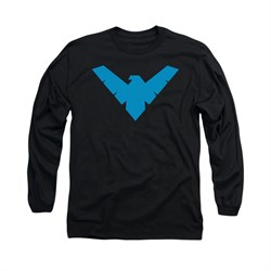 Nightwing DC Comics Shirt Symbol Long Sleeve Black Tee T-Shirt