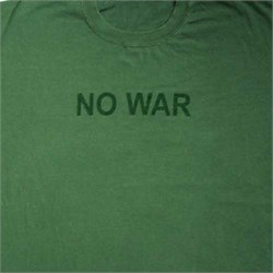 Image of No War Anti-War Olive Green Adult Unisex T-shirt Tee Shirt