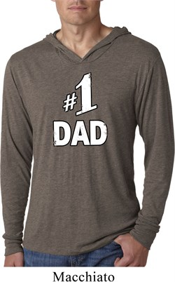 Image of Number 1 Dad Lightweight Hoodie Shirt