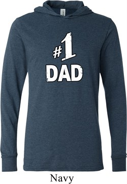 Image of Number 1 Dad Lightweight Hoodie Tee