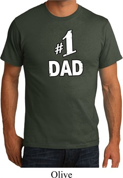 Number 1 Dad Mens Organic Shirt